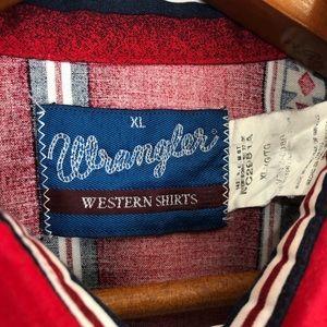 Wrangler Shirts - DROP $59 Vintage Pearl Snap Native Aztec western
